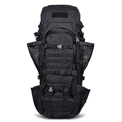 BM 125L Zaini outdoor ad alta capacità arrampicata sacchetto corsa borse a tracolla per uomini e donne di zaino tattico militare , ash Black