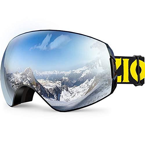 ZIONOR XA Skibrille Snowboard Brille Schneebrille für Männer Frauen Herren Damen Anti-Nebel UV-Schutz KugelFörmige Dual Objektiv Design