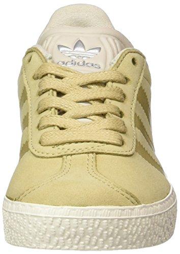 Adidas Gazelle Fashion, Baskets Basses Sport Unisexe-enfants Marron (lin Kaki / Marron Clair / Blanc Craie)