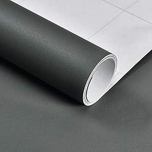Hode Selbstklebende Folie Grau Selbstklebende Tapete für Wand, Tür, Möbel,Wasserfest Aufkleber für Mauer Selbstklebende Folie Vinyl Dekofolie