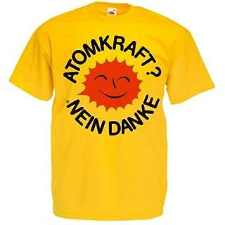 Atomkraft Nein Danke Lachende Sonne T-Shirt sonnenblumengelb