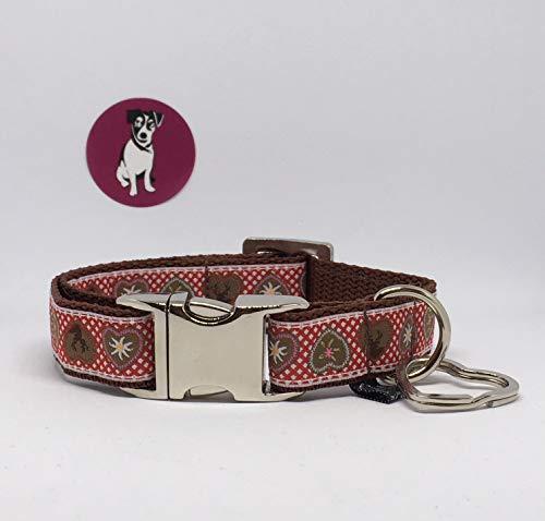 Jimmy und Katz Hundehalsband Alpenliebe Rot 26-40cm x 2cm
