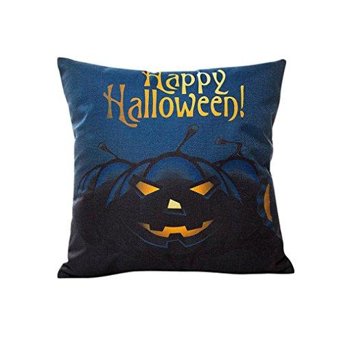 highpot Kissen Leinen Sofa Kissenbezug Home Decor Happy Halloween, Polyester, a, 43cmX43cm/18X18