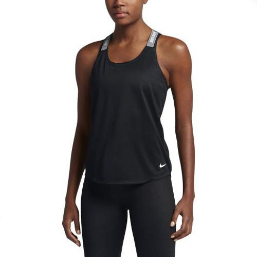 Nike Damen Dry Elastika Tanktop, schwarz (Black/Cool Grey/White), S