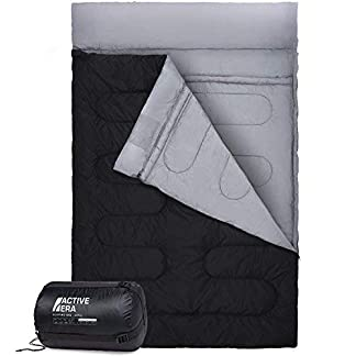 Active Era Double Sleeping Bag - Extra Large - Queen Size - Converts into 2 Singles - 3 Season for Camping, Hiking, Outdoors 16