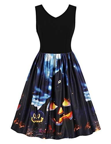 FeelinGirl Kleider Damen Festlich Halloween Mini Cocktailkleid Abendkleid Sommerkleider Spitzenkleid...