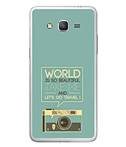 Fuson Designer Back Case Cover for Samsung Galaxy Grand Neo Plus I9060I :: Samsung Galaxy Grand Neo+ (Radio Picture Take Me And Travel Graphics)