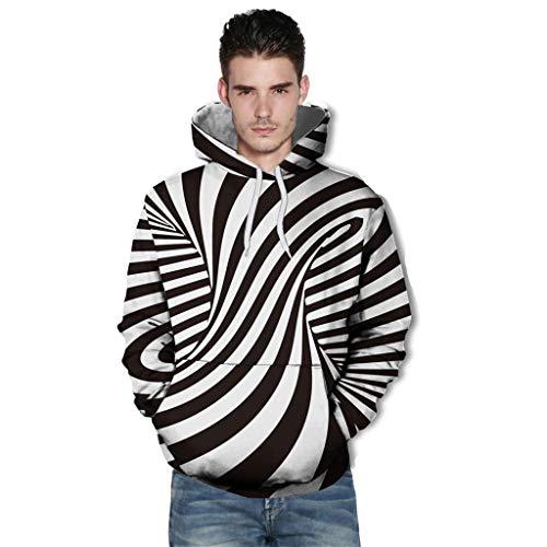VBWER Unisex Herren Slim Fit 3D Druck Kapuzenpullover Kapuzen Sweatshirt Winter Hoodie Pullover
