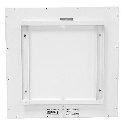 VASNER Citara Glas Infrarotheizung 650 Watt weiß 62 x 92 cm Wandmontage mit Bild 3*