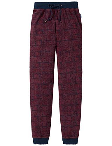 Schiesser Jungen Schlafanzughose Mix & Relax Jersey Pants, Gr. 152, Rot (bordeaux 502) (Herrliche Jersey Gerippte)