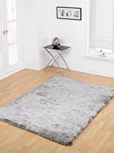 Mystery Grand Silver Shag Rug Rug Size: 110cm x 60cm (3 ft 7.5 in x 1 ft 11.5 in) by Flair Rugs