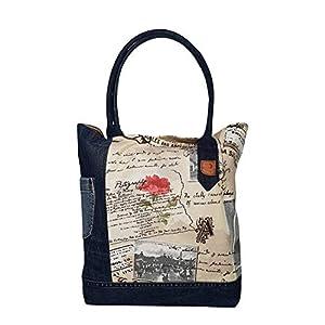 Denim Schultertasche Damen Tote bag Shopper Damen groß Nachhaltige Handtasche Damen Henkeltasche Große Kapazität…