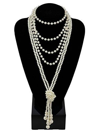 1920er Jahre Perlen Halskette Flapper Kostüm Zubehör 67,8