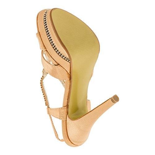 Scarpe Da Donna Tacco Alto Sandali Con Tacco A Spillo Stiletto Per Il Tempo Libero Scarpe Tacco In Molti Colori Oro M309go