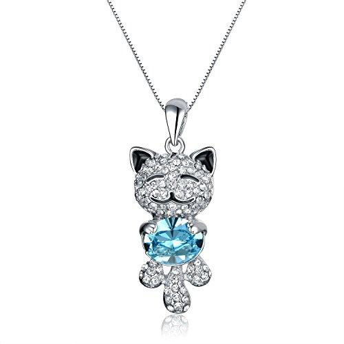 viki-lynn-collier-fantaisie-cristal-femme-fille-serie-lucky-cat-chat-avec-petit-chat-souriant-bijoux