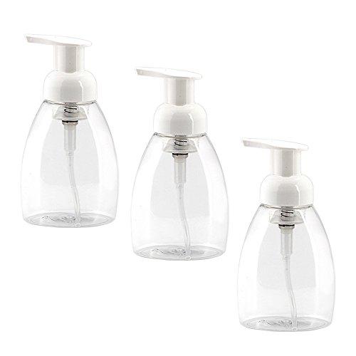 Gosear 3 Stk 250 ml Leere Blase Schaum Nachfüllbar Pumpe Flaschen für Make-up Flüssigkeit Schäumen Soap Geldautomaten Shampoo Container -