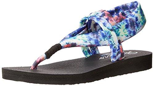 Skechers MeditationStudio Kicks, Sandales ouvertes femme Blue Tie Dye