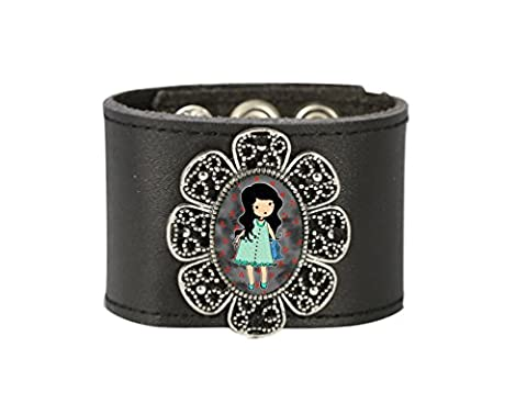 Poupée Manchette faite à la main Mode Style Bracelet manchette Bracelet en cuir Wrap Bracelet pour femmes par Tizi Bijoux