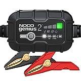 NOCO GENIUS2EU, Smart Automatico da 2 Amp, Caricabatterie da 6V e 12V, mantenitore di Carica e desolfatore di batterie con compensazione della Temperatura