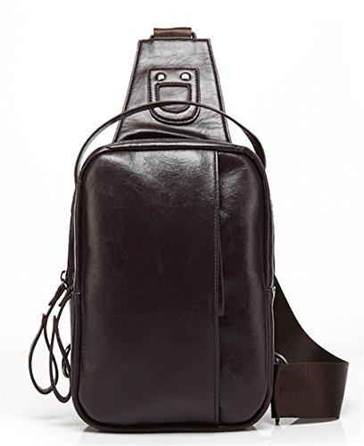 Xinmaoyuan Männer Handtaschen Pu Männer Brüste Business Schultertasche vertikalen Abschnitt der reinen Farbe wasserdichte Tasche, Braun Braun