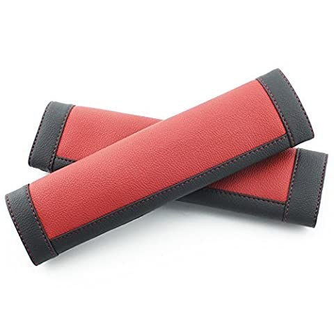 COFIT Black and Red Seat Belt Pads Pack of 2