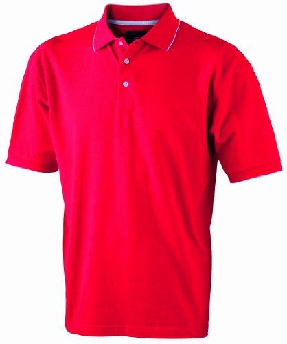 James & Nicholson Herren Poloshirt Red/White