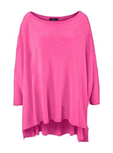 Poncho für Damen mit Kaschmir/Cashmere von Zwillingsherz/Modischer All-Rounder für Frauen als Alternative zu einem Strickwaren/Pulli / Strick-Pullover/Cardigan / Strick-Jacke pink