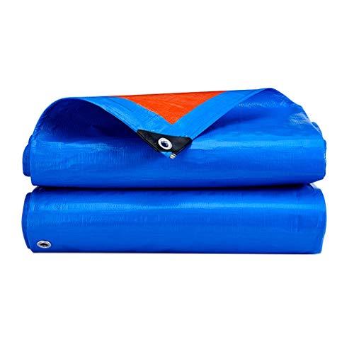 PAN Hochleistungs-Polyplane, 13 mil dick, wasserdicht, UV-blockierende Schutzhülle, reversibel, blau/orange, laminierte Beschichtung, rostfreie Ösen (Size : 10 x 12 feet) (Pan X 12 10)