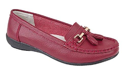 Foster Footwear Donna Bambina Sandali con zeppa Burgundy
