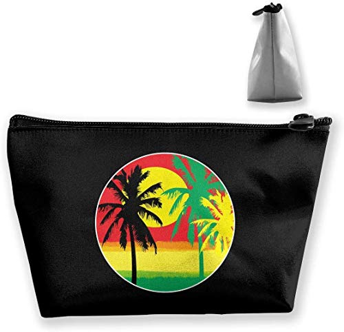 Jamaica Rasta Palm Tree Make Up Bag Toiletry Bag Travel Cosmetic Bags Pouch -