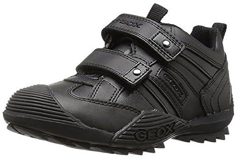 Geox Savage G, Sneakers Basses garçon, Noir (C9999), 34 (Scuola Velcro)