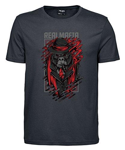 makato Herren T-Shirt Luxury Tee Real Mafia Dark Grey