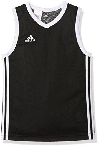 adidas Kinder Trikot Commander Jersey Youth T-shirt Schwarz/Weiß 152