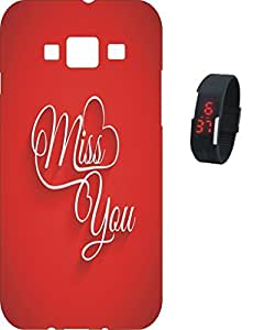 BKDT Marketing Printed back cover for Samsung Galaxy Grand 2 7106 with Digital Watch