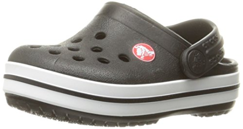 crocs Unisex-Kinder Crocband K Clogs, Schwarz (Black 001), 25/26 EU - Schwarze Mädchen Clogs