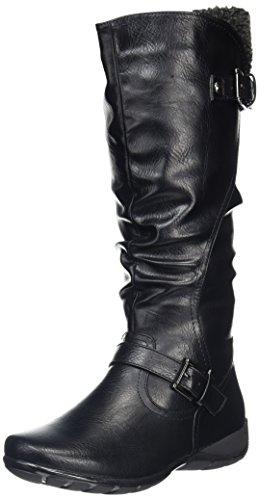 Lotus Women's Calista Biker Boots, Black (Black), 6 UK 39 EU
