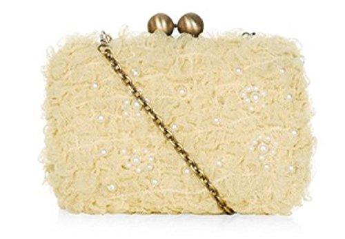 Darling (shoes & Bags) - Daisie, portafoglio da donna GIALLA CON PERLINE