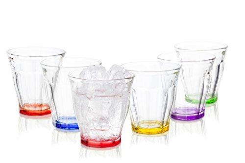 Tivoli Havana Gläser / 6-teiliges Set / 250ml / Wassergläser / In 6 verschiedene Farben