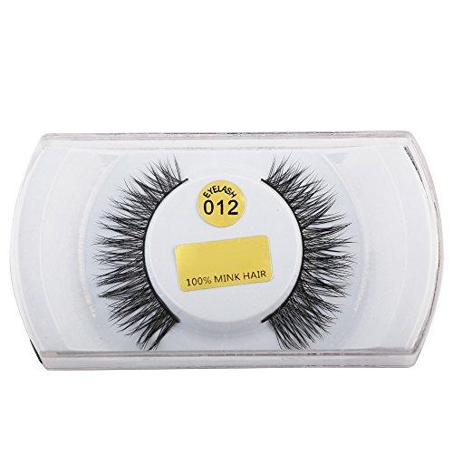 Vovotrade Faux Cils 5 paires de cils de vison noirs 3D épais naturels faux faux cils cils contour des yeux longue plume cils de parti Naturels de cheveux Longs naturels épais faux cils