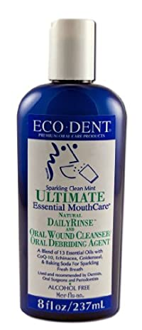 Eco-Dent Ultimate Daily Mouth Rinse, Sparkling Clean Mint 8 oz