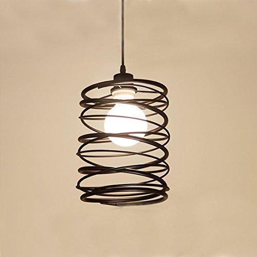 KJLARS retrò Lampadari a sospensione con paralume in spirale metallo lampada vintage industriale Illuminazione