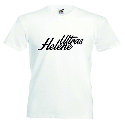 Helene Herren T-Shirt Motiv01 T-Shirt Weiss 4XL