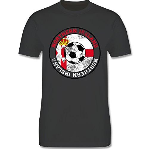 EM 2016 - Frankreich - Northern Ireland Kreis & Fußball Vintage - Herren Premium T-Shirt Dunkelgrau