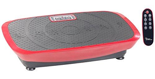 newgen medicals Vibrationstrainer: Breite 3D-Vibrationsplatte WBV-600.3D, 500 Watt, 20 Frequenzen & Timer (Vibratorplatte)