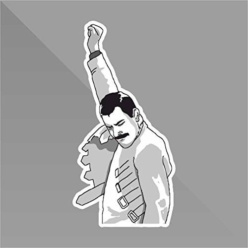 Sticker Freddie Mercury Meme Funny - Decal Auto Moto Casco Wall Camper Bike Adesivo Adhesive Autocollant Pegatina Aufkleber - cm 11
