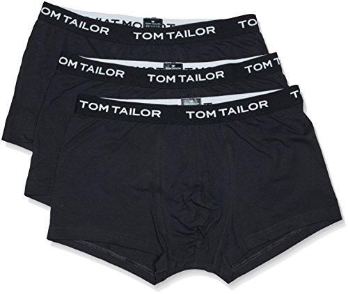 Tom Tailor Underwear Herren Retroshorts Hip Pants, 3er Pack, Einfarbig, Gr. X-Large (Herstellergröße: XL/7), Schwarz (black 9303) (2009 Männer Pant)