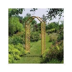 gardman elegance arche de jardin en bois avec pieds de poteau pointus cuisine maison. Black Bedroom Furniture Sets. Home Design Ideas