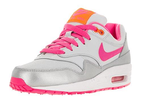 Nike Air Max 1 Gs Scarpe Sportive, Unisexe Bambino Pur Platine-rose Pow-bright Agrume-blanc