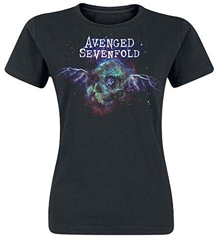 Avenged Sevenfold Space Skull Girl-Shirt schwarz XXL
