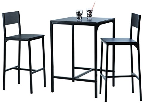 Demeyere-365746-Kool-Set-de-1-Table-2-Chaises-Mtal-Noir